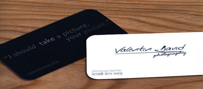 Valentin David - Carte de vizita
